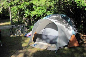 Les joies du camping en septembre